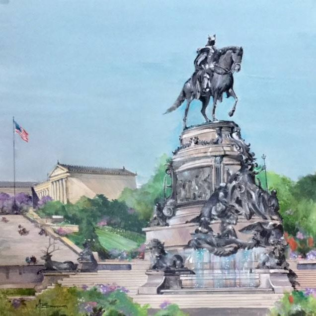 George Washington Fountain <BR>at the Philadelphia Museum of Art